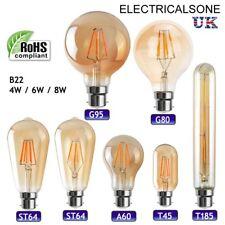 B22 vintage industrial filamento LED Luz Lámparas incandescentes jaula de ardilla Edison A +