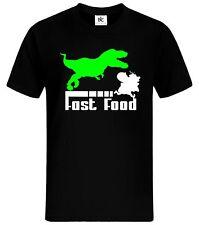 Dino Fast Food T-Shirt Fun Shirt Lustig Höhlenmensch Kult Shirt mycultshirt Trex
