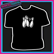 Eat Sleep Bowling T-Shirt Bowls TShirt Ape to Man Ten Pin Crown Green Bowling