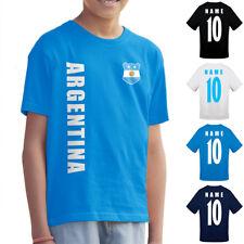 Argentina Argentina Bambini Maglia Fanshirt T-Shirt WM 2018 nome numero