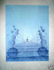 Cesare PEVERELLI Lithographie signée numérotée art abstrait artiste Italien