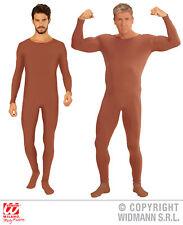 una pieza, Mono, body, manga larga color piel, danza Sport Marrón Hombre, M, L,