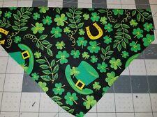Dog Bandana Sz Xs-L Over Collar Shamrocks Horseshoes Lucky St. Patricks Day