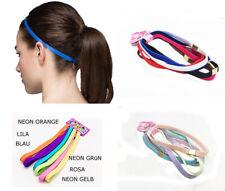 Gummi Haarband doppelt 6x oder 12x Haarschmuck stretch Bänder  sport Stirnband *