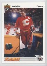 1991-92 Upper Deck French #165 Joel Otto Calgary Flames Hockey Card