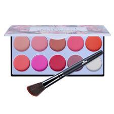 10 Colors Women Makeup Blush Contour Palette for Sculpting Shading Covering