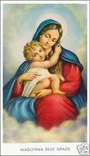 SANTINO HOLY CARD TELA CANVAS MADONNA DELLE GRAZIE