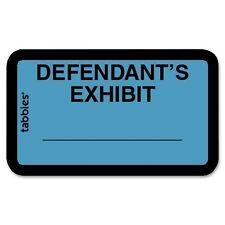 "Tabbies Tab Legal Defendant's Exhibit Label - 1.62"" Width X 1"" Length, 252/pk"