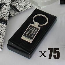 75x Personalised Engraved Gift Box Metal Keyring Wedding Favor Bomboniere Custom