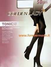 2 Collant donna Golden Lady in microfibra coprente, cuciture comfort art Tonic50