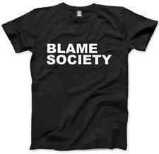 Culpar a la sociedad-Rebelde Anarquía Unisex para hombre T-Shirt
