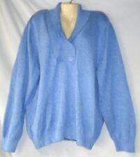 Women's V Neck Sweater Lilac Blue Green 100% Cotton NWT Karen Scott