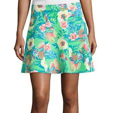 Decree Scuba Skater Skirt Size XS, S, 1X Jr. Plus Tropical Hawaiian Green New