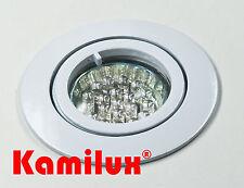 Sets 1,5W = 15W 20er LED Einbaustrahler GU10 Einbauspot 230V warmweiss Alu Bajo