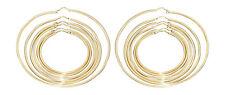 Creolen Silber 925 Gelbgold vergoldet Ohrringe feine große Silbercreolen Gold
