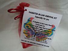 DAUGHTER-IN-LAW Survival Kit Novelty Gift Keepsake Fun Present