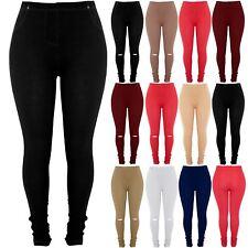Plus Size Womens Ladies Elasticated Pockets Full Length Denim Jeggings Leggings