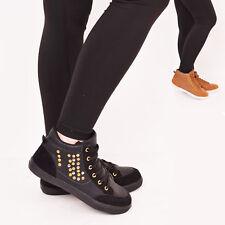 Damas Mujeres Encaje Entrenadores tachonado Casual Caminar Moda Zapatos Talla todos los días