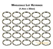 """Split Key Rings 3/4"""" Keychain Key Holder Locksmith (1.4mm x 20mm) Wholesale Lots"""