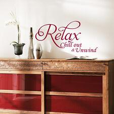 Grand Relax Art vinyle autocollant mural, Citation - bedroom- salle de bain