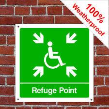 Disabled refuge point sign DDA025 durable and weatherproof