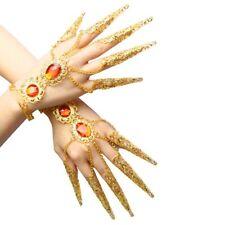 1Pair x 10 Fingers Avalokitesvara Indian Belly Dance Nail sets Bracelet Costume