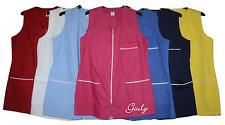 Camice Lavoro donna grembiule smanicato aperto zip divisa 7 colori made in Italy