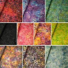 100% Cotton Fabric Batik Ivy Leaves & Flowers Floral Fabric Freedom BK153