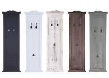 2x Garderobe Wandgarderobe Wandhaken 109x28x4cm, Shabby-Look/weiß lackiert