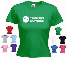 'Federer Express' Ladies Girls Roger Federer Wimbledon Funny T-shirt