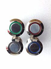 Beleuchteter 16 mm Schalter | 12 V LED | M16 Einbau | Rot,Grün,Blau,Gelb,Weiß