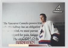 1997-98 Pinnacle #106 Trevor Linden Vancouver Canucks Hockey Card