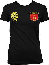 CCCP Flag Crest Russian Ruskie National Soccer Football Pride Juniors T-shirt