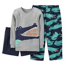 Carter's Boys Later Gator 3 Pc Pajama Set NWT Sz 4, 5 or 6 Shirt, Pants, Shorts