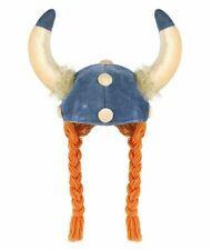 Donna da UOMO ADULTO VIKING con Ginger Trecce Costume Vestito Cappello Casco
