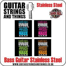 Ernie Ball à 4 cordes ACIER INOXYDABLE Slinky Guitares Basses TOUTES LES JAUGES