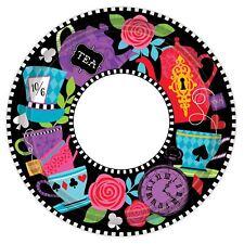 8 piezas Mad HATTERS té platos de papel para Fiesta Comida Bufé Alice Decoración
