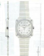 PUBLICITE ADVERTISING 2011 BELL & ROSS white ceramic phantom diamonds 39mm