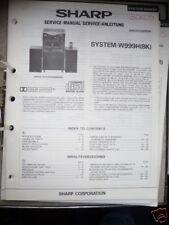 Service-Manual Sharp System-W999H,  Musikanlage!