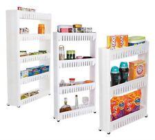 Kitchen 3/4/5 Tier Storage Shelf Organiser Wheels Slim Slide Out Trolley Rack