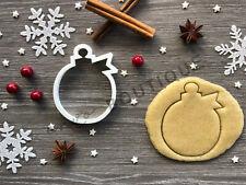 Bauble Xmas Cookie Cutter 05 | Christmas | Fondant Cake Decorating | UK Seller