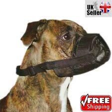 Nylon Adjustable Dog Safety Muzzle Muzzel Mouth Mask Biting Barking Chew Black