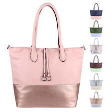DAMEN HAND-TASCHE Shopper Schultertasche Henkeltasche Beuteltasche Metallic Bag