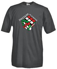 T-Shirt girocollo manica corta games V42 Cubo di Rubik italians do it better