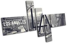 Los Angeles LA Typography City MULTI CANVAS WALL ART Picture Print