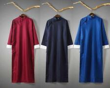 Men's Chinese Traditional Tang Suit Robe Kung Fu Tai Chi Coat Long Uniform HOT