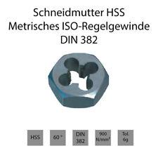 Schneidmuttern HSS DIN 382 - Metrisches ISO-Regelgewinde - Rechts & Links
