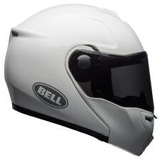 Bell SRT Modular Solid Gloss White Fip Front Motorcycle Motorbike Helmet