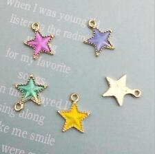 20pcs Drip oil Star pendant earrings necklace Handmade making diy accessories