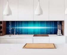 Aufkleber Küchenrückwand 3D Effekt Code Zahl blau Folie Spritzschutz 22A167